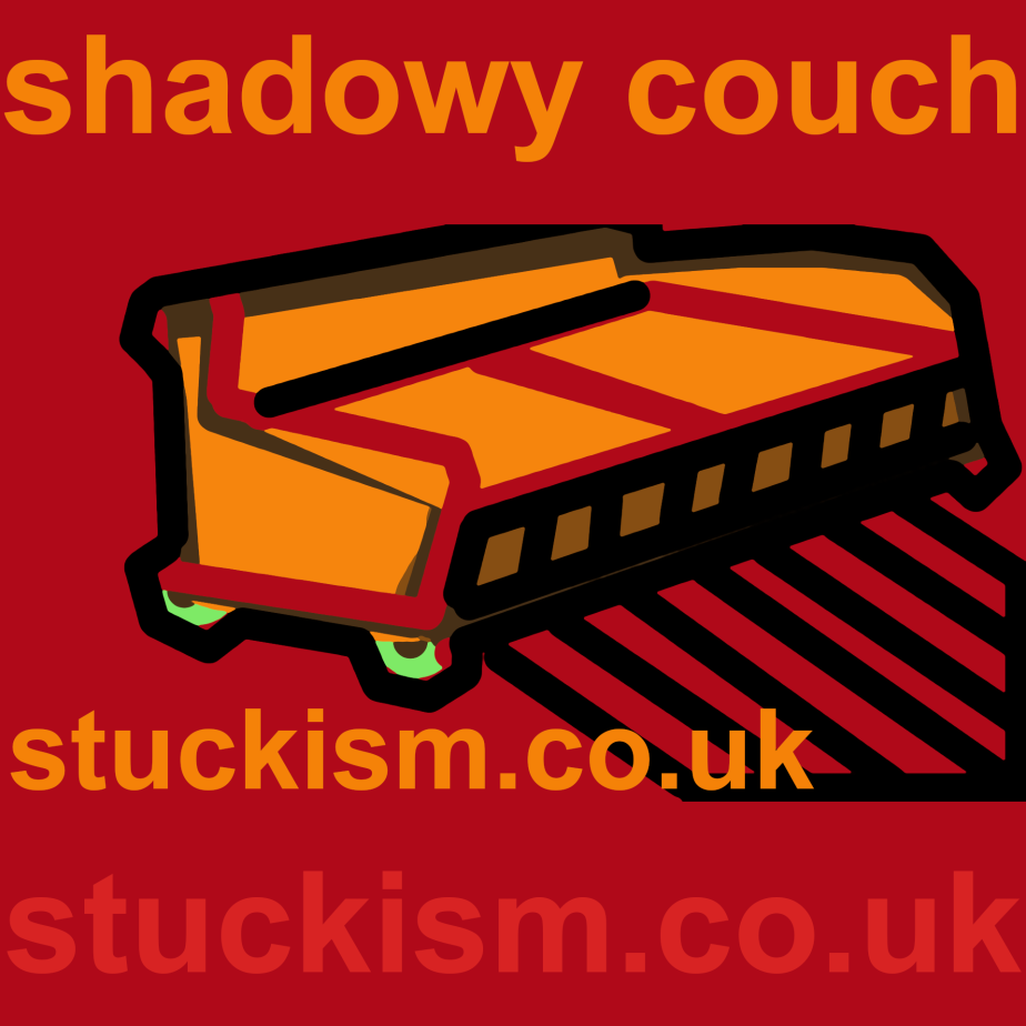 Shadowy couch Stuckism Ad #stuckism by Edgeworth Johnstone.