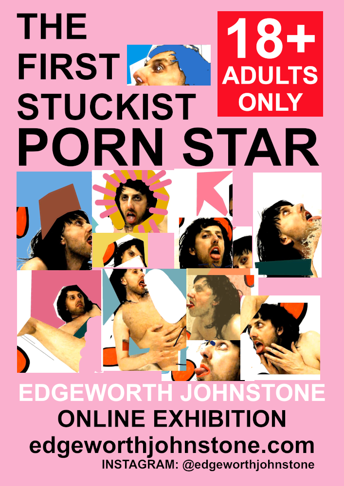 The First Stuckist Porn Star Exhibition Poster